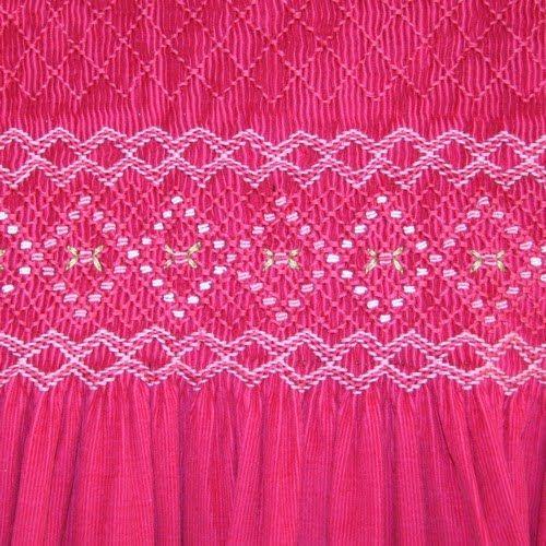 /Vive-la-Fete-Pink-Smocked-Dress-Close-Up.jpg like the floss colors with the solid fabric