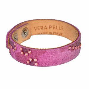 Bracciale pelle rosa by Valery Design Bijoux
