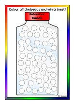 'Behaviour Beads' jar reward charts (SB8629) - SparkleBox