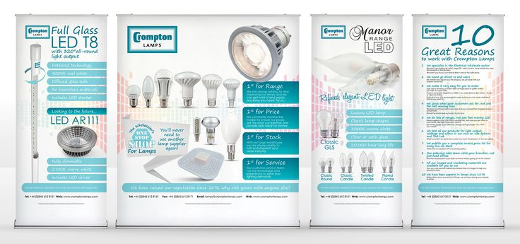 Exhibition Stands for Crompton Lamps