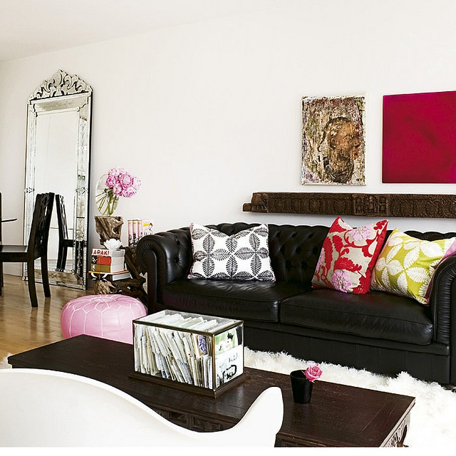 random room inspiration black leather couchesblack