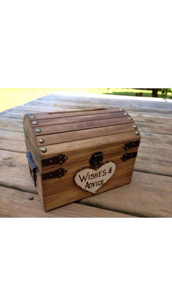 Wedding Advice Box Wedding Chest Wishing Well by CountryBarnBabe