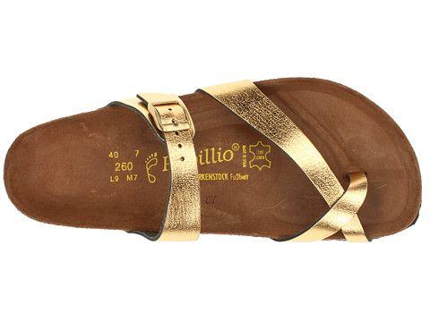 Birkenstock Tabora Papillio By Birkenstock Gold Metallic Leather - Zappos.com Free Shipping BOTH Ways
