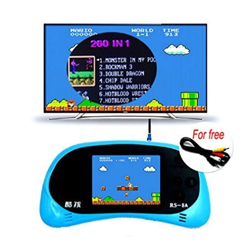 cool Best seller RS-8A Video Game Console 8 Bit 2.5 inch Handheld Game Player Built-in 260 Different Games Children's Game Color Tetris
