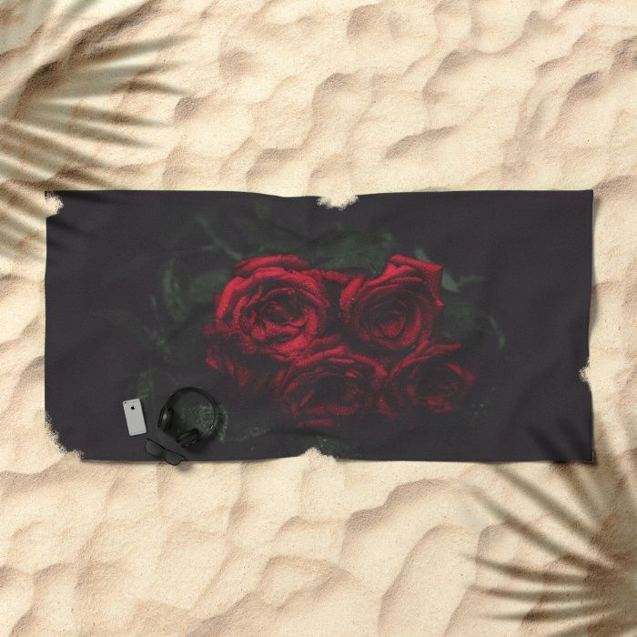 Roses Beach Towel by Mixed Imagery | Society6