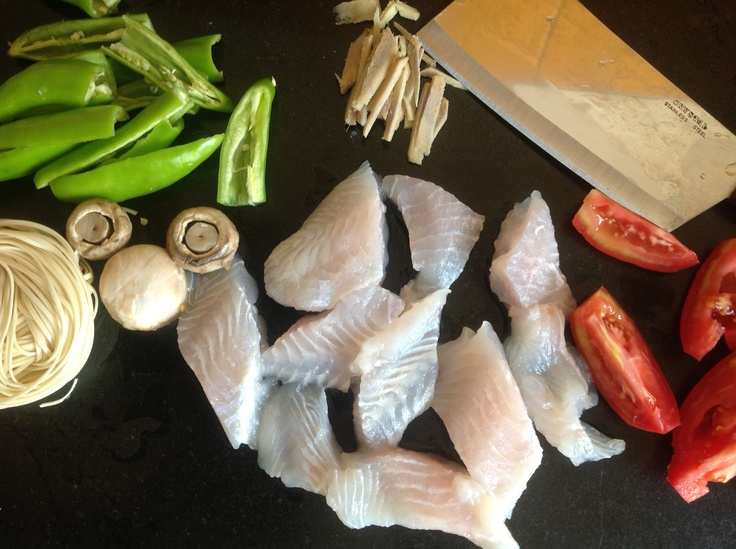 Makings for a 15-min meal...