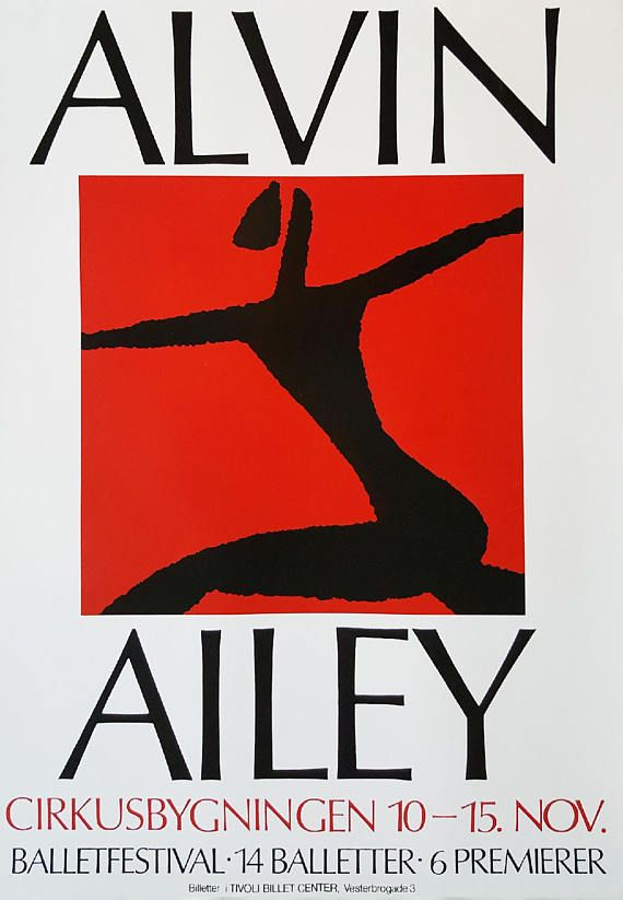 1980s Alvin Ailey's American Dance Theater in Copenhagen