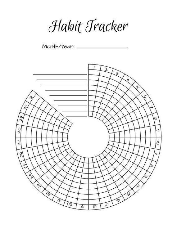 2 Bullet Journal Printable Habit Trackers, Circle Habit Tracker, Radial Habit Tracker, Habit Tracker – Sharon Crews