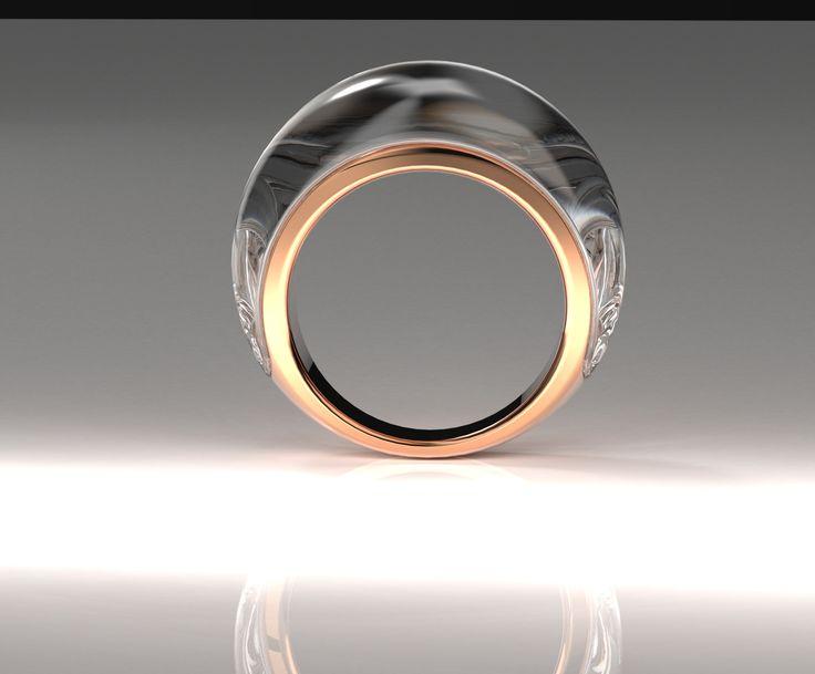 Rose gold, Acrylic ring