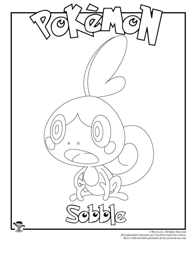 Pokemon Coloring Page Printable Sobble Coloring Page Pokemon Coloring Pokemon Coloring Sheets Pokemon Coloring Pages