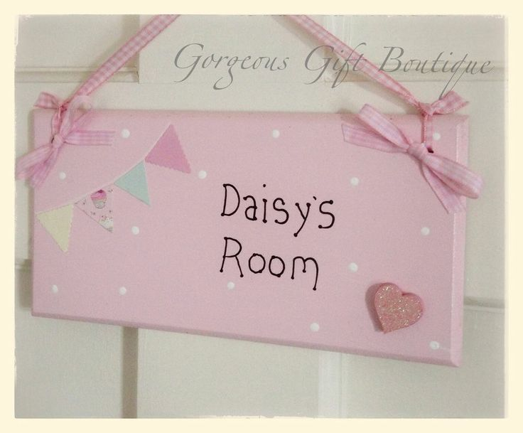 Children s bedroom door name sign plaque  HANDMADE. 7 best Personalised childrens name plaques and signs images on