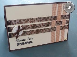 """Le Bonheur est dans le Papier: La Carte Tressée """"Fête des pères"""""""