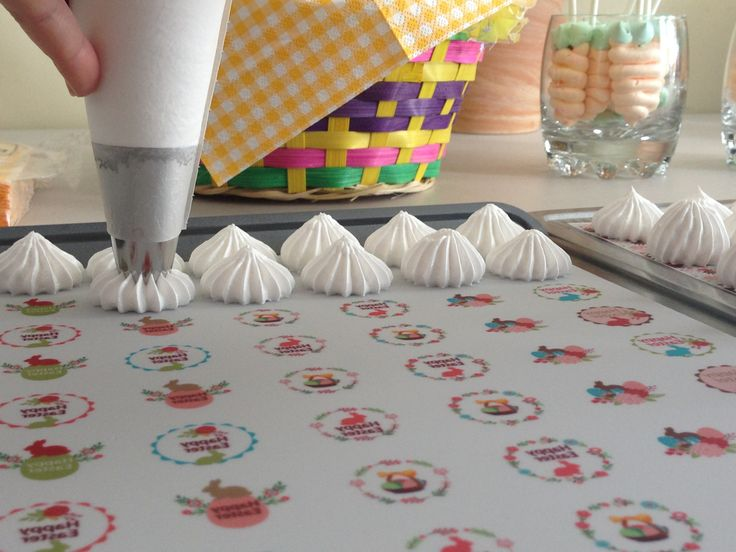 Sugar Stamp sheets are branded liners with transferrable images for sweet meringues. The great way to personalize any event or occasion, using custom design.