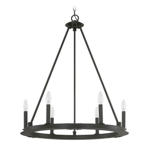 Capital Lighting Pearson Black Iron Chandelier | 4916BI-000 | Destination Lighting