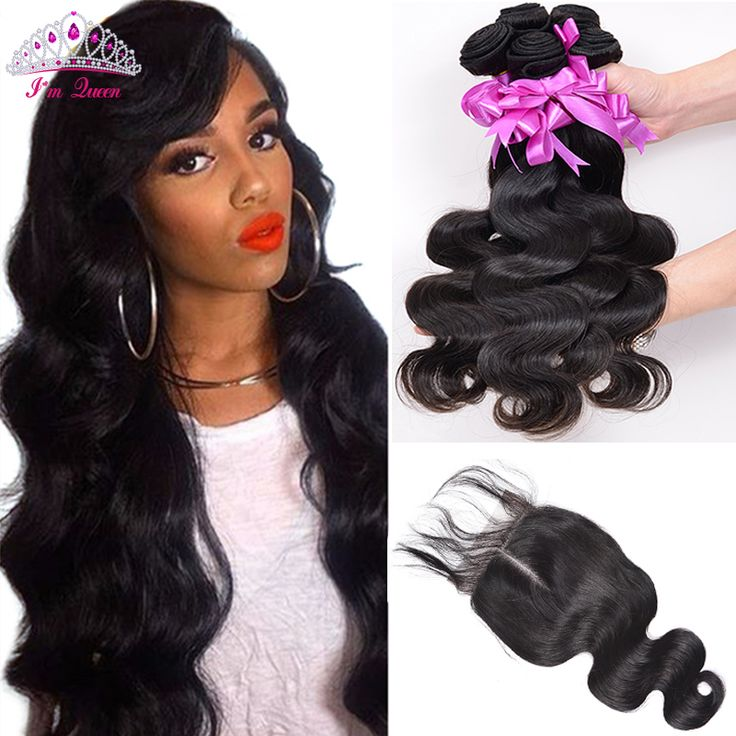 Hair Weft Closure ( Bang) Malaysian Virgin Hair With Closure 3 Bundles Human Virgin Hair With Closure Rosa Hair Products Malaysian Body Wave With Closure  ** AliExpress Affiliate's Pin. Clicking on the image will lead you to find similar product
