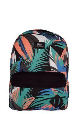 Mochila Vans Old Skool Ii Backpack Preta/Verde/Coral