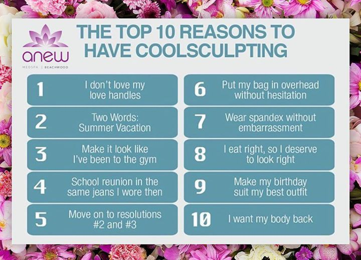 Get your body back with Anew Coolsculpting permanent fat removal for those stubborn areas. Call us for a Feen consultation today! #ANEWmedspa #anewyou #anewyou2017 #ANEW #anewbeginning #anewbeachwood #botox #fillers #juvederm #restylane #silkpeel #dermalinfusion #skincare #medspa #hairremoval #underarmsweating #coolsculpting #fatreduction #bodycontouring #freezethefat #freezefat #lips #loveyourlips http://ift.tt/2n5IGwW