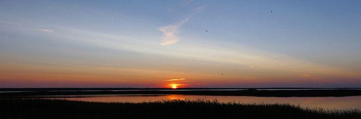 Sunset panorama at Nissum Fjord