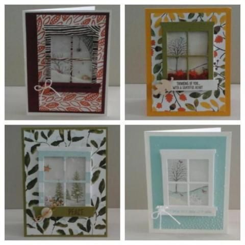 Want to learn how to make a shaker card? In this class we will be using the Happy Scenes stamp set that is found in the new Holiday Catalogue, and the coordinating Hearth and Home Framelit to create seasonal window scenes, perfect for Thanksgiving, Halloween and Christmas. #stampinup