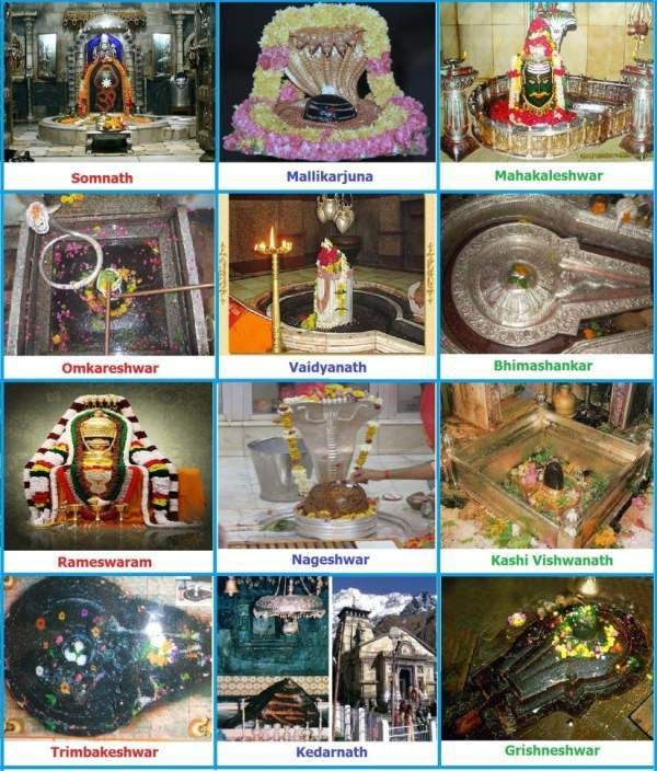 The 12 Jyotirlinga Temples of Lord Shiva