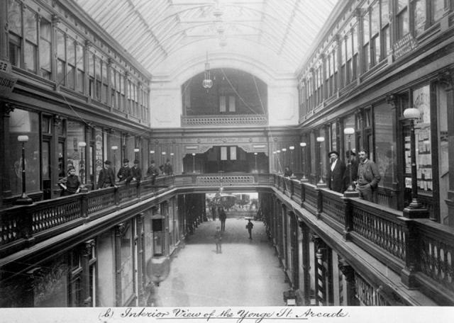 1890s Toronto's first mall - the Yonge Arcade at 137 Yonge St.