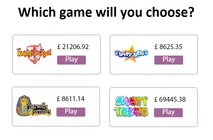 Which game will you choose? Sign up now & start playing: http://goo.gl/YC6iDp