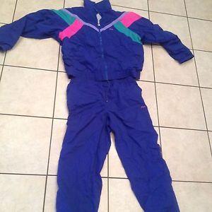 Vintage-Fila-Track-Suit-Blue-Neon-Pink-Aqua-1990s-Full-Top-44-Bottom-38