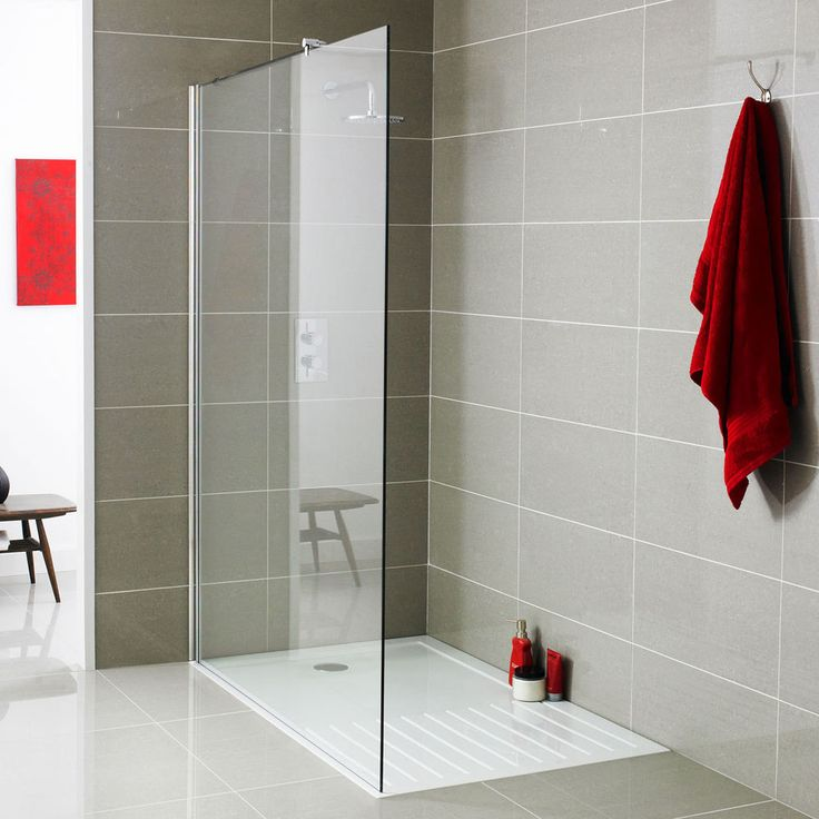 Best Value 8mm Wet Room Glass Screen Panel Walk-In Shower Enclosure Tray