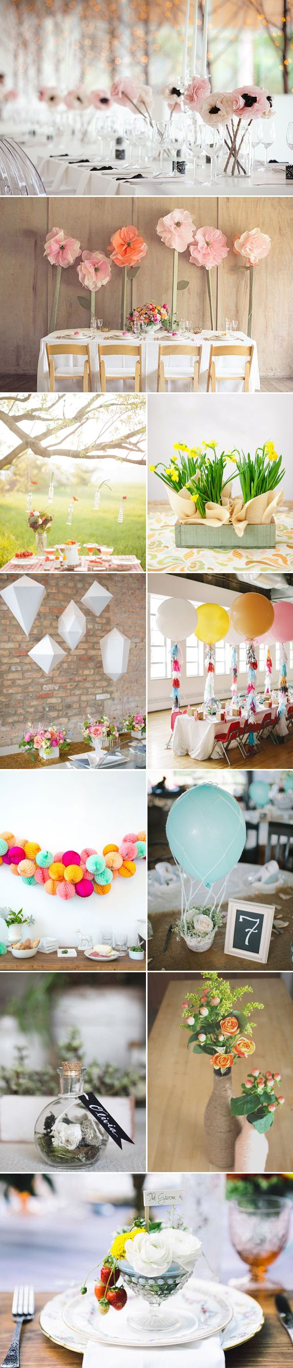 48 Creative Handmade Wedding Details - Tablescape
