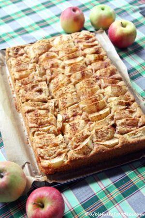 Apfelkuchen mit Soja und Vollkorn