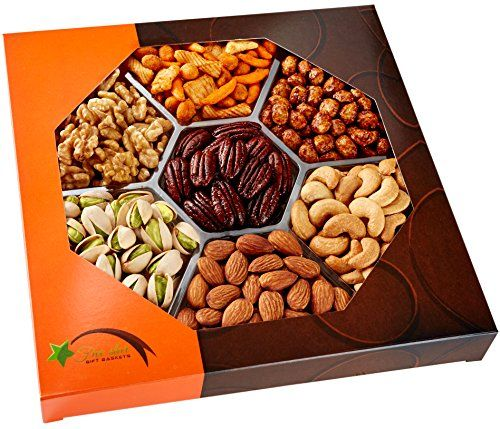 Father's Day Gift Baskets Gourmet Food Nuts Gift Basket, 7 Different Nuts