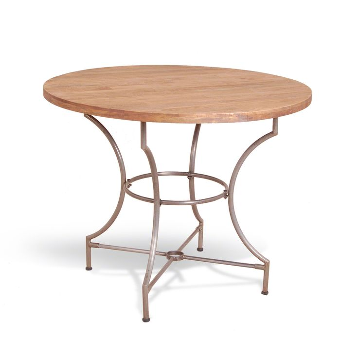 Hoxton Steel And Mango Wood Round Dining Table By Harley U0026 Lola