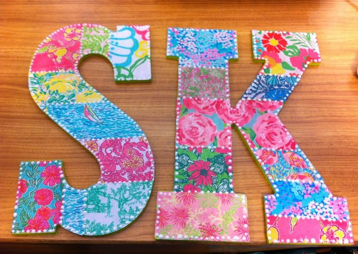 Lilly pulitzer sigma kappa mod podge letters instagram for Lilly pulitzer sorority letters