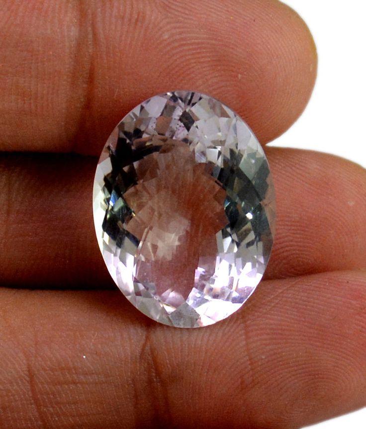 24ct VS Big Rare Natural Light Purple Amethyst Quartz Faceted Loose Gemstone #krishnagemsnjewels