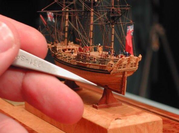 Miniature ship model by Lloyd McCaffery
