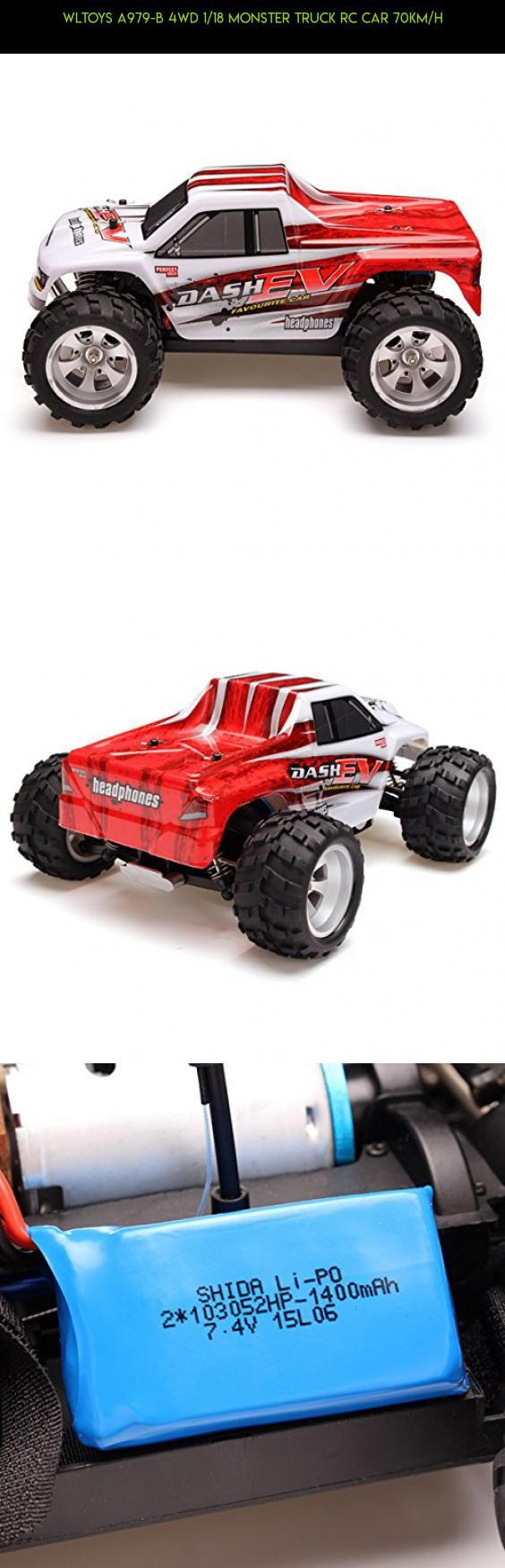 WLtoys A979-B 4WD 1/18 Monster Truck RC Car 70km/h #wltoys #racing #drone #technology #camera #kit #fpv #gadgets #plans #products #monster #tech #truck #parts #shopping