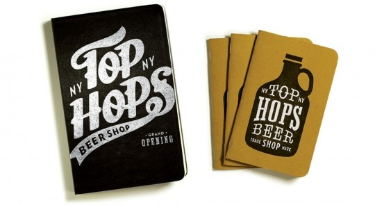Nice work from Workshop for Top Hops, a culture-center for craft beer in Manhattan.
