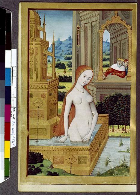 Bethsabée au bain Anonyme 15e siècle période médiévale - Bas Moyen Âge