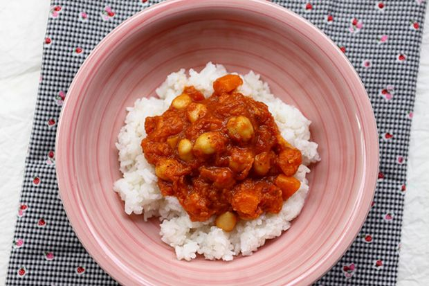 VKF 45. forduló: Sütőtökös csicseriborsó-curry