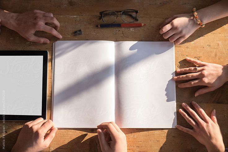 Blank Exercise Book on a Desk . Background by killer | Stocksy United