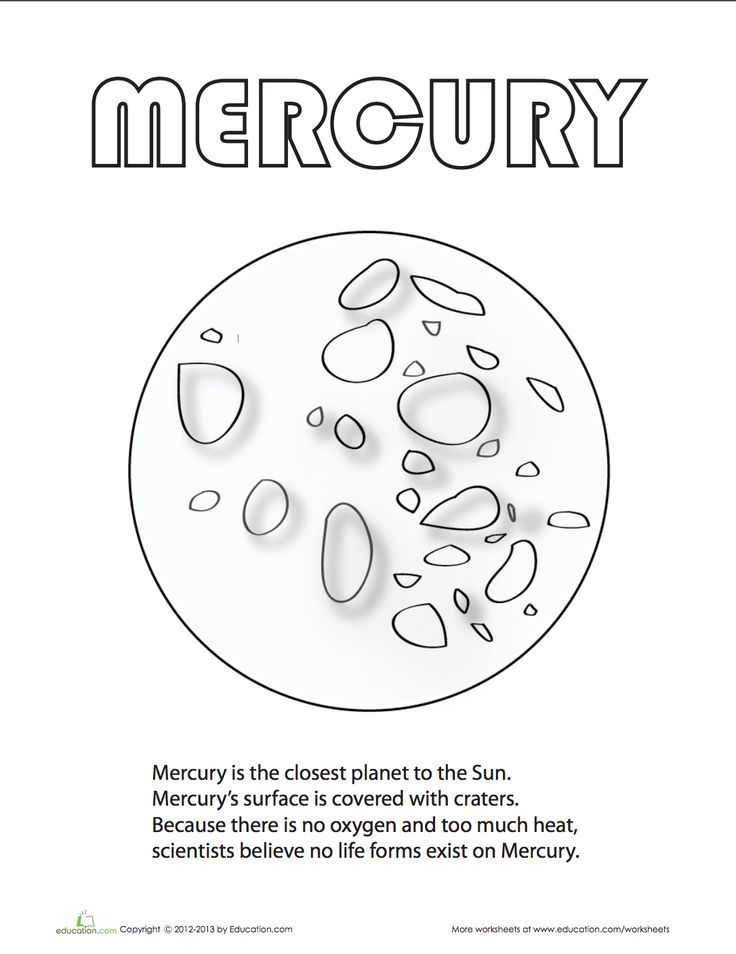 Mercury Coloring Page Planet Coloring Pages Planets Planet For Kids