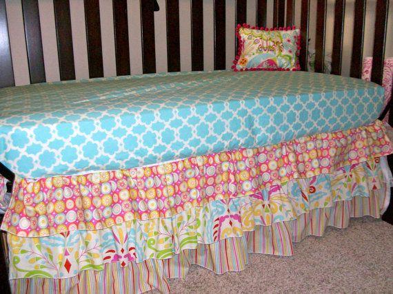 Custom Bumperless Bedding using Dena by SimplySassynSweet on Etsy: Bumperless Bedding, Baby Bedding, Custom Bumperless, Baby Girl, Dena Fishbein S