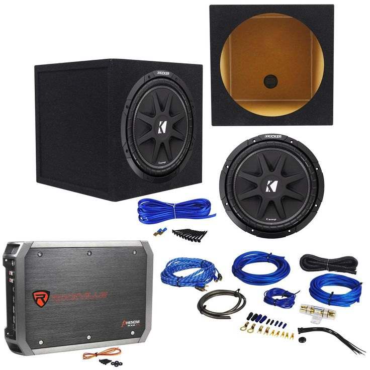 17 best ideas about kicker car audio kenwood car package kicker 43c124 comp 12 300w car subwoofer rockville rxa t1 car