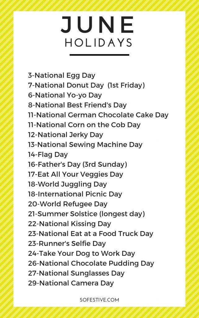 National Calendar June 2021 Photos
