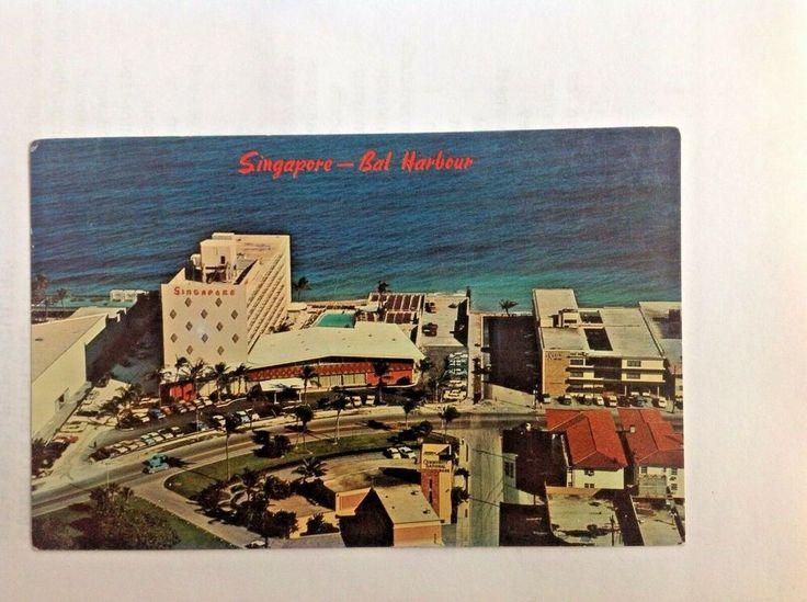 Singapore Hotel & Surfside Miami Beach Postcard Florida