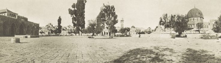 Temple Mount, 1915. Temple Mount, 1915. Al Aqsa Mosque on the left, Dome of the Rock on the right. The domed Tiferet Yisrael Synagogue is on the horizon between Al Aqsa and the tree.