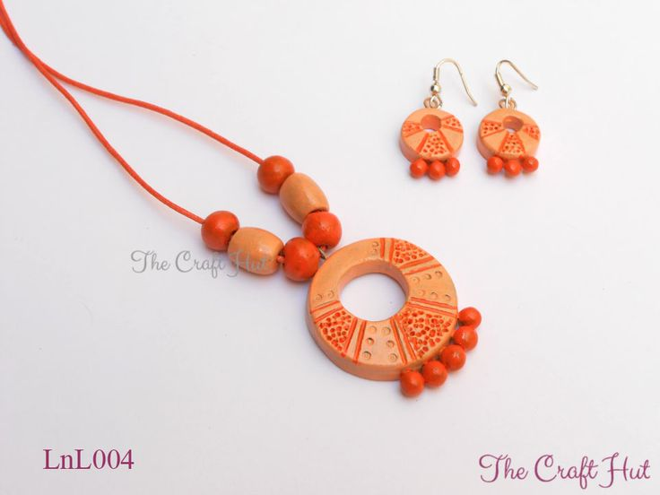 #TheCraftHut #TerracottaJewellery Rs.380 #LnL Handcrafted Terracotta Jewellery set