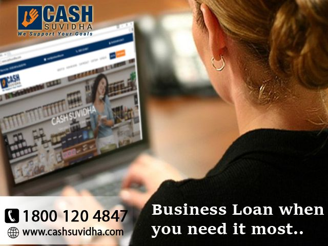 Cash Suvidha fulfill all your business need by providing business loan. #ApplyOnline #CollateralFree #BusinessLoan #LoanforSME
