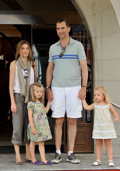 Prince Felipe of Spain, Princess Letizia of Spain and her daughters, Leonor (L) and Sofia (R) at the Real Club Nautico de Palma during the 29th Copa del Rey Audi Sailing Cup on August 3, 2010 in Palma de Mallorca, Spain.
