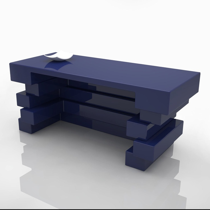 This desk has classic lines apparently, square shape that makes it even more important to the work station in the office.    The design still surprises with its proportions and wit simple rectangular planes that overlap.    FINISH GLOSS LACQUERED